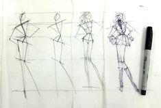 more drawing for fashion finds...