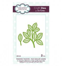 Craft Dies by Sue Wilson - Finishing Touches Collection - Faux Quilled Leaves CED1403