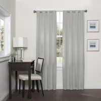 Shop for Eclipse Darrell Thermaweave Blackout Window Curtain Panel. Get free delivery On EVERYTHING* Overstock - Your Online Home Decor Outlet Store! Grey Blackout Curtains, Grey Curtains, Rod Pocket Curtains, Blackout Windows, Window Curtains, Bedroom Curtains, Modern Curtains, Drapery Panels
