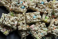 Lucky Charms Rice Krispie Treats and Lucky Charm Facts!