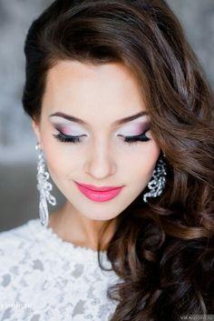 Maquillage mariée tons rose