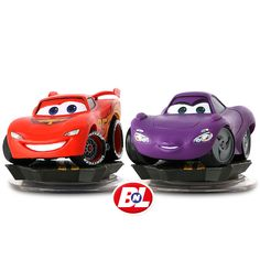 Cars 2: Disney Infinity Cars Play Set - Lightning McQueen & Holley Shiftwell