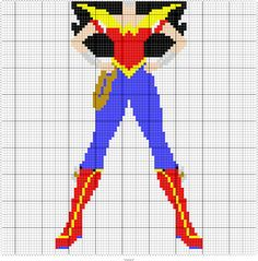 WONDER WOMAN 95 X 95 GRAPH SQUARES