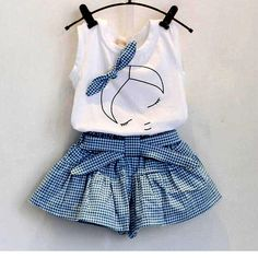 New 2016 brand summer baby girl clothing sets fashion Cotton print shortsleeve T-shirt and skirts girls clothes sport suits #>=#>=#>=#>=#> Click on the pin to check out discount price, color, size, shipping, etc. Save and like it!