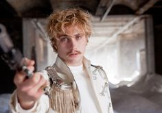 A perfect Romantic character; Count Vronsky in Tolstoy's Ana Karenina. And wow, Aaron Johnson achieves that nineteenth century, wild-haired Romantic hotness that makes my knees buckle <3