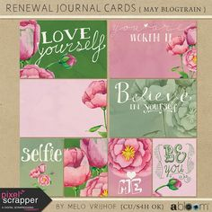FREE Renewal Journal Cards By Melo Vrijhof [ PS May 2015 Blog Train ]