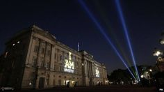 Buckingham Palace lit up for the Invictus Games