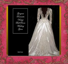 Romantic Vintage Ball Room Style  Wedding Gown  by whiteriver51, $450.00