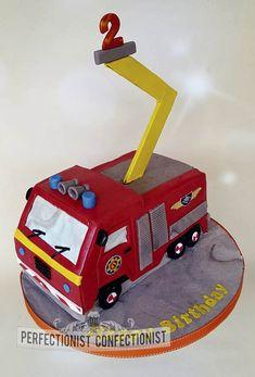 Fireman Sam Birthday Cake - Fire Engine Birthday Cake