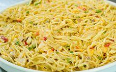 Receta de espaguetis a la crema, enviada por Tavo