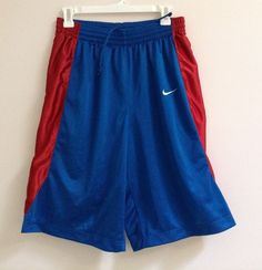 Men's Nike Blue with Red White Blue Side Stripes Shorts Size M #Nike #Shorts