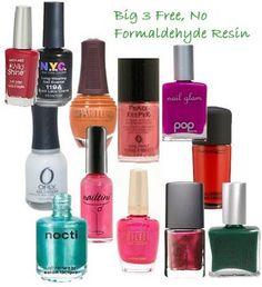 Nail polish brands big 3 free