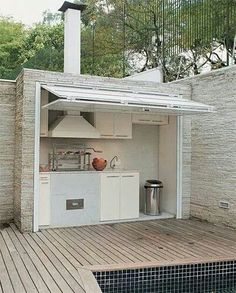 outdoor space // patio can't get enough of outdoor rooms and fireplaces outdoor kitchen Outdoor Rooms, Outdoor Living, Outdoor Shop, Outdoor Baths, Outdoor Showers, Indoor Outdoor, Sweet Home, Outdoor Kitchen Design, Backyard Kitchen