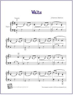 Waltz in Ab (Brahms) | Free Sheet Music for Piano - http://www.makingmusicfun.net/htm/f_printit_free_printable_sheet_music/brahms-waltz-piano-solo.htm