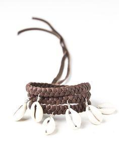 Sea Goddess Wrap Bracelet - Brown
