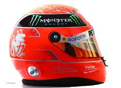 Michale Schumacher 2012 helmet. Think he was pretty much the first driver to start changing his helmet design yearly.