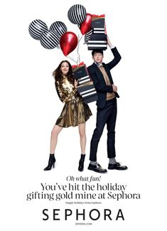 Sephora Christmas shopping holiday festive portraits