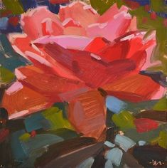 Abstract Rose - Original Fine Art for Sale - © by Carol Marine