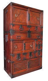 Japanese Antiques and more offered by The Zentner Collection. Carefully selected antique Japanese antique art, Chinese antiques and Asian art for sale Japanese Furniture, Asian Furniture, Antique Furniture, Furniture Design, Rare Antique, Antique Art, Sliding Panels, Small Drawers, Cabinet Styles