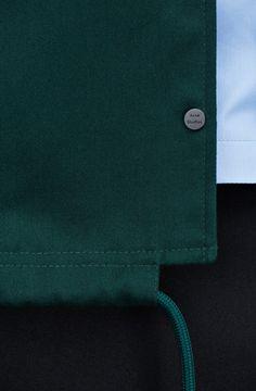 clean hem detail - finish - pull string