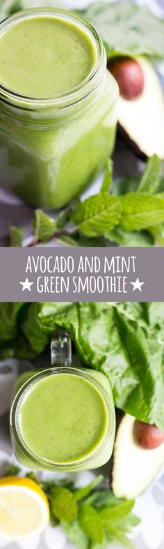 Creamy avocado, fresh spinach and mint are the stars of this refreshing green smoothie packed with health-giving properties.  via @quitegoodfood