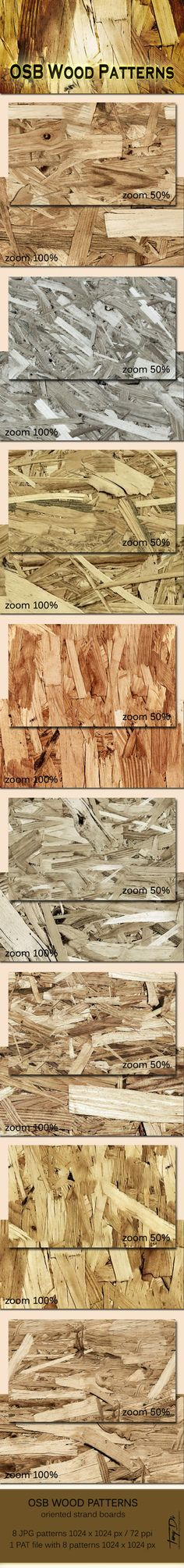 OSB Wood Patterns — Photoshop PAT #foil #engineered • Available here → https://graphicriver.net/item/osb-wood-patterns/5934391?ref=pxcr