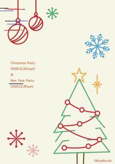 크리스마스 포스터 디자인 ai 무료다운로드 free Christmas poster design - Urbanbrush
