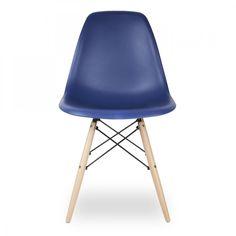 Eames Chaise DSW flair Eames création de 1948 - Bleu Royal