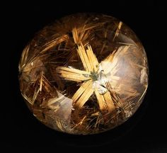 One of the personal favourite , Rutilated Quartz .  Rutilated quartz is a rare mineral that is mainly made up of titanium dioxide. One of its most outstanding physical properties is that is has a remarkably high refractive index which makes it to disperse plenty of light, more than any other mineral known to mankind.  Credit : Otto Jakob