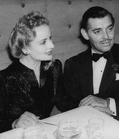 carolelombardthequeenofscrewball:  Carole Lombard and Clark Gable in 1941.