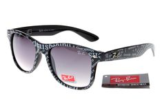 Ran-Ban Rare Print 81040 Black Pattern Frame Gray Lens RB1298 [RB-1321] - $27.30 : cheap sunglass, Ray Bans outlet