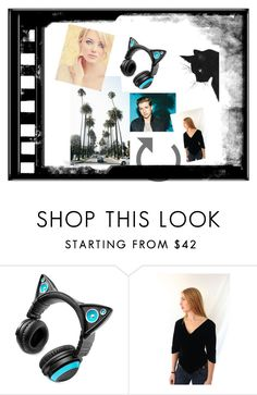 """""""Charlie Puth Meow"""" by jackpotjen ❤ liked on Polyvore featuring Brookstone and Jackpot"""