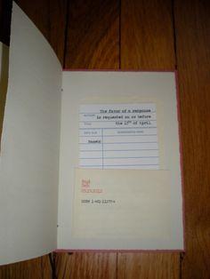 Book Themed Wedding Invitations (sample). $5.00, via Etsy.