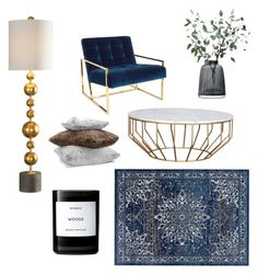 blue by s0fiae on Polyvore featuring interior, interiors, interior design, home, home decor, interior decorating, Jonathan Adler, Uttermost, Byredo and Hudson Park