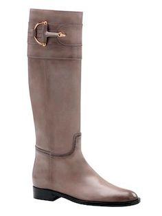 I'm loving these Gucci Classic Horsebit and Brogue tall flat boot.  via I Swear On CHANEL
