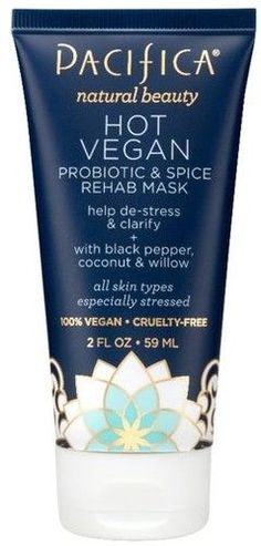 Keep your skin refreshed and energized with Pacifica's Hot Vegan Probiotic & Spice Rehab Mask.