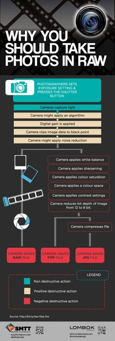 Why you should take photos in raw ? – Infographic