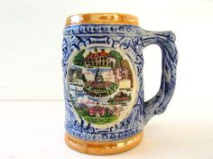 Vintage mug or stein - great size for coffee or beer and COLLECTIBLE by fishbonedeco, via Flickr