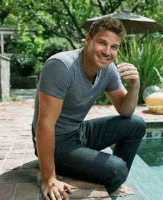 A man, a pool. What else? - David Boreanaz