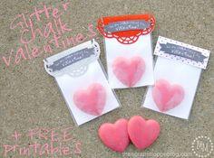 Homemade Glitter Chalk for Valentine's Day