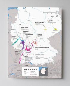 Germany Wine Map
