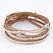 Candy Color Multi-row Leather Bracelet(Assort... – USD $ 5.99