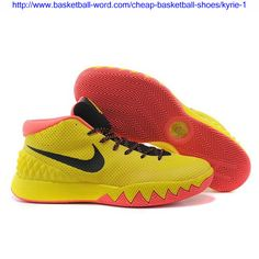 e84d9ed84ce Find Quality Nike Kyrie Irving 1 PE Yellow-Black Bright Crimson Cheap Sale Online  and mor. Cheap Basketball Shoes
