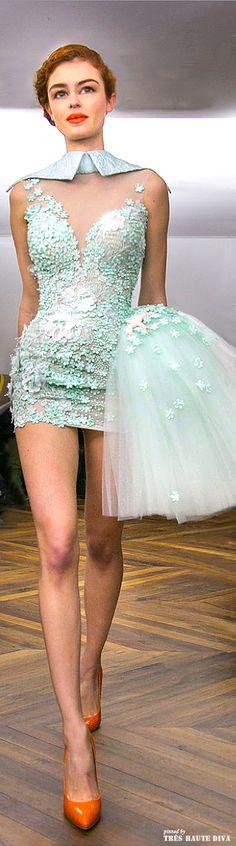 Tony Yaacoub 2014 Couture v High End Fashion, Love Fashion, Runway Fashion, Fashion Design, Couture Fashion, Fashion Beauty, Nice Dresses, Short Dresses, Prom Dresses