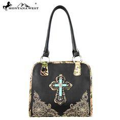 Montana West Spiritual Collection Camo Handbag with Floral Tooling