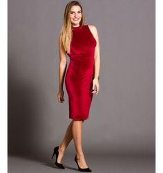 Pencil Βελούδινο Φόρεμα με Ανοιχτή Πλάτη - Κόκκινο Party Dress, Formal Dresses, Fashion, Vestidos, Dresses For Formal, Moda, Formal Gowns, Fashion Styles, Formal Dress