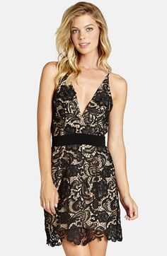 Dress the Population 'Ava' Lace Minidress