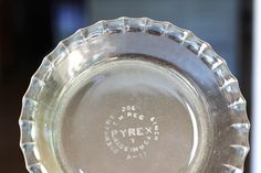 Fluted 6 inch Pyrex pie pan....I have two