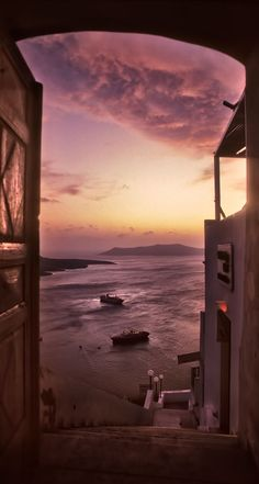Door with a view, Fira, Santorini: