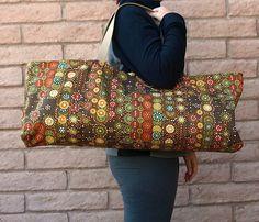 Handmade Yoga or Pilates Tote Gym Bag by ChellaBellaDesigns, $38.00